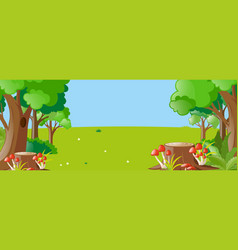 nature scene with trees and field vector image