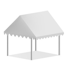 Outdoor commercial tent mockup realistic style vector