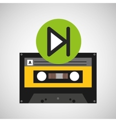 play music cassette tape vector image