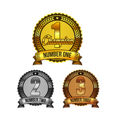 Ranking awards badges set vector
