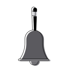 Retro school bell handle clapper classic vector