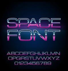 sci-fi retro font vector image