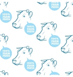 Seamless Pattern with cow vector