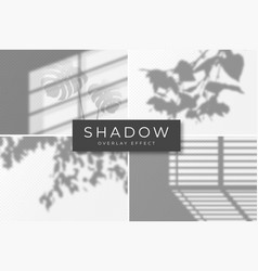 Set shadow overlay effects shadow and light vector