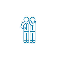 Sharing secrets linear icon concept sharing vector
