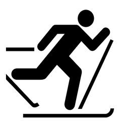 Skiing Symbol vector image