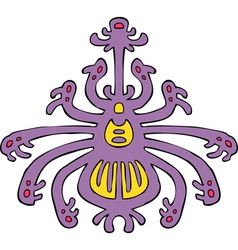 Spider lilac pattern vector