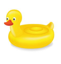 swimming ring duck vector image