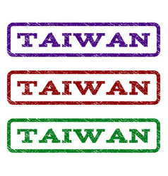 Taiwan watermark stamp vector