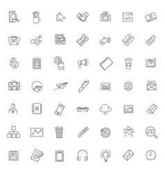 Thin line icons set icons for business vector