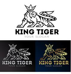 tiger king icon logo vector image