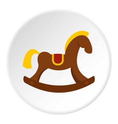 Toy horse icon circle vector