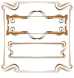 Vintage beautiful elegant frame Set of elements vector image