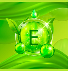 vitamins e chemical formula radiant substances vector image vector image