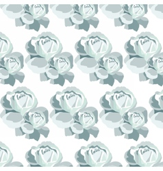 Watercolor Blue Roses pattern vector image