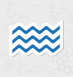 Waves icon vector
