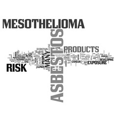 what exactly puts people at risk for mesothelioma vector image