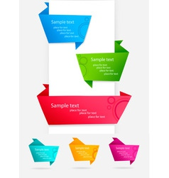 group with origami banners vector image