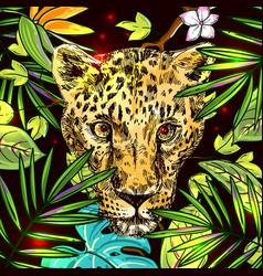 Hand-drawn leopard vector