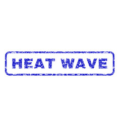 Heat wave rubber stamp vector