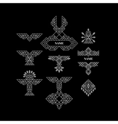 Vintage Graphic Elements Geometric Linear Border vector image