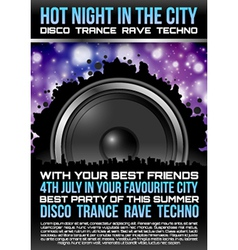 Disco Theme with speaker vector image