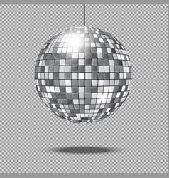 mirror glitter disco ball vector image