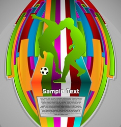 summer sport design series soccer theme vector image vector image