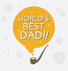 worlds best dad vector image
