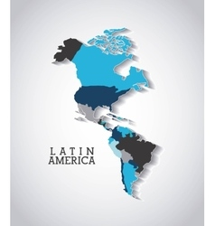 american continent design vector image