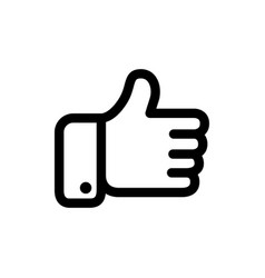 black thumbs icon vector image vector image