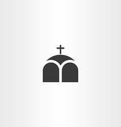 church or chapel cross icon vector image