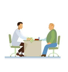 doctor and patient ecg overweight vector image