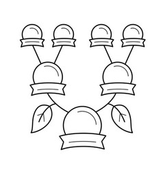 family genealogical tree line icon vector image
