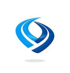 finance stripe business logo vector image vector image