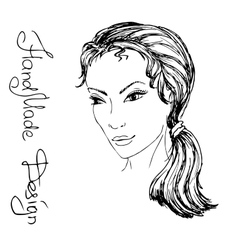 girl face painted by hand vector image