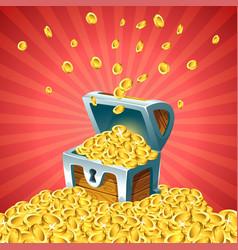 open treasure chest vector image vector image