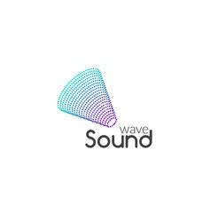 Sound Audio music wave logo design Business icon vector image