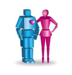 3d couple in fully scalable vector image vector image