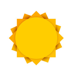 abstract yellow sun clean vector image vector image