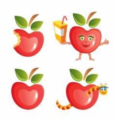apple icon set vector image vector image