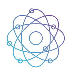atom icon in color gradient silhouette from purple vector image