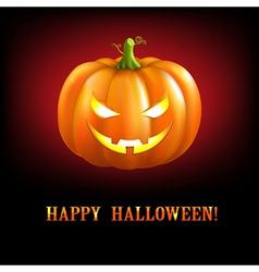 Black Halloween With Pumpkins vector image vector image