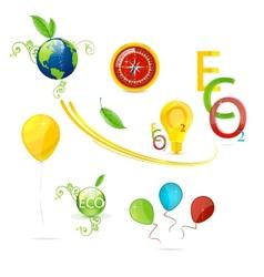 creative nature and eco symbols set vector image
