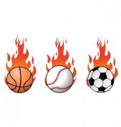 flaming balls vector image