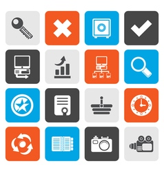 Flat Internet and Web Site Icons vector image vector image