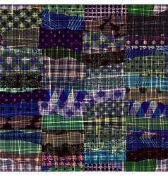 Patchwork of wavy patches vector image