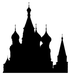 st basils cathedral vector image vector image