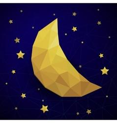 Triangle new moon vector