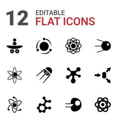 12 molecular icons vector